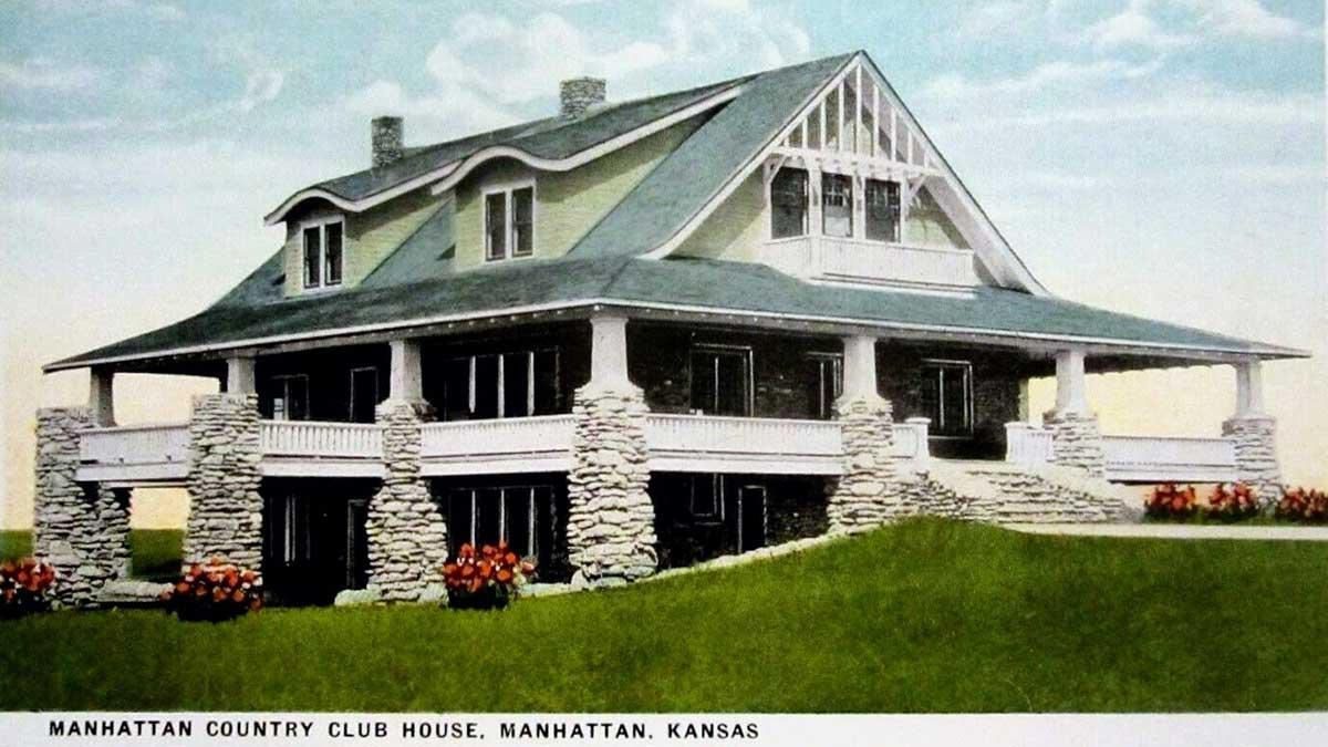 A postcard of Manhattan Country Club.