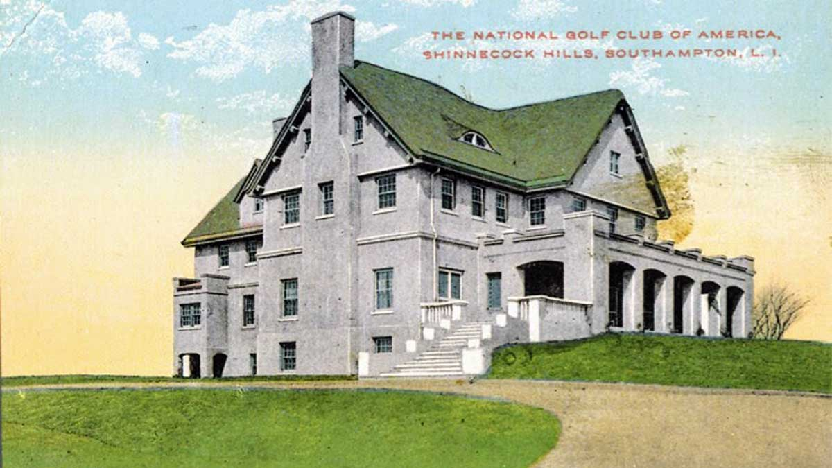 A postcard of National Golf Links of America.