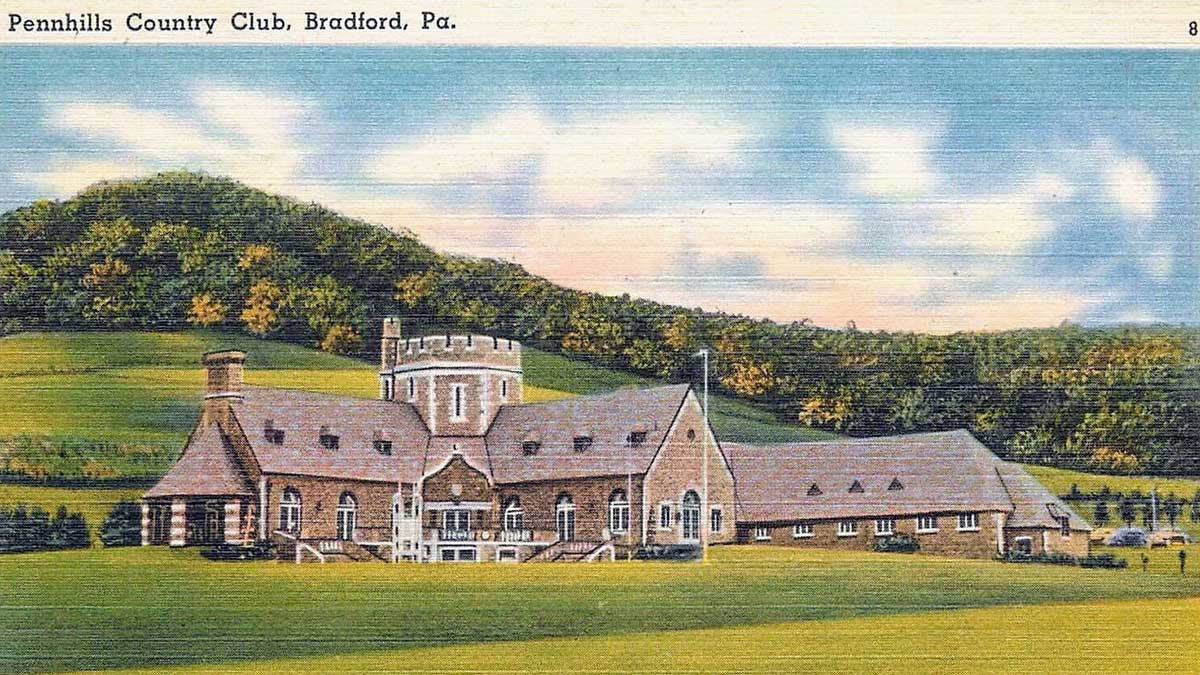 A postcard of Pennhills Country Club.