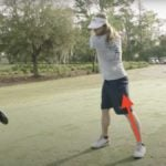 player in backswing