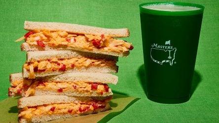 Augusta National's legendary pimento cheese sandwich.
