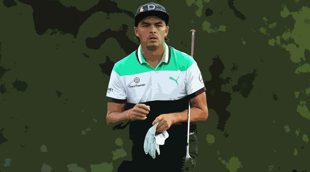 Rickie Fowler shot a second-round 82 in historically rough conditions.