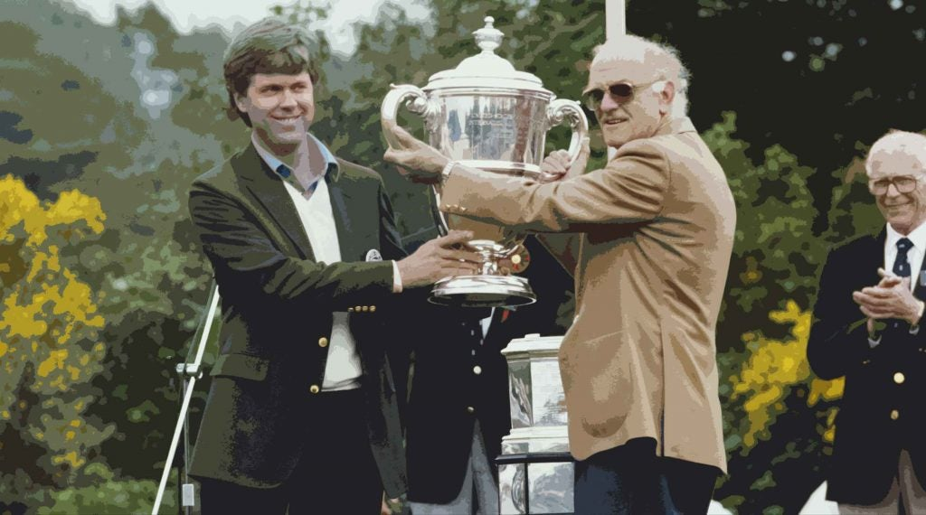 Ridley has a long list of golf highlights, including captaining the victorious 1987 Walker Cup team.