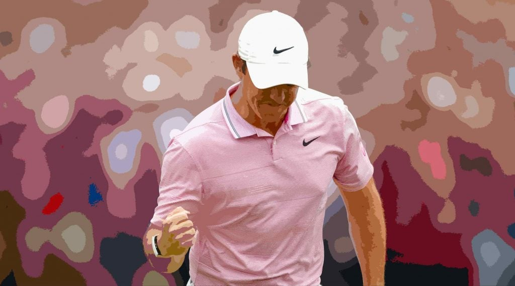 Mcllroy rejoiced after an unthinkable 3 at the 12th.