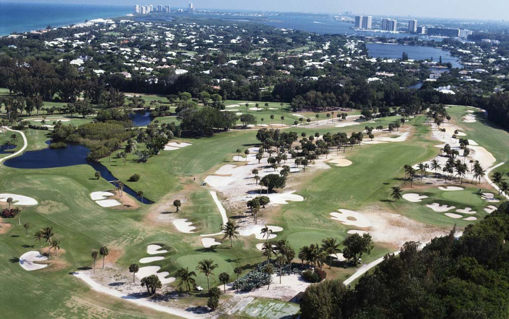 An aerial view of Seminole Golf Club.