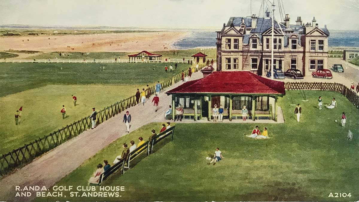 A postcard of St. Andrews.