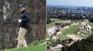 Right: Tom Brady; Left: Seminole Golf Club