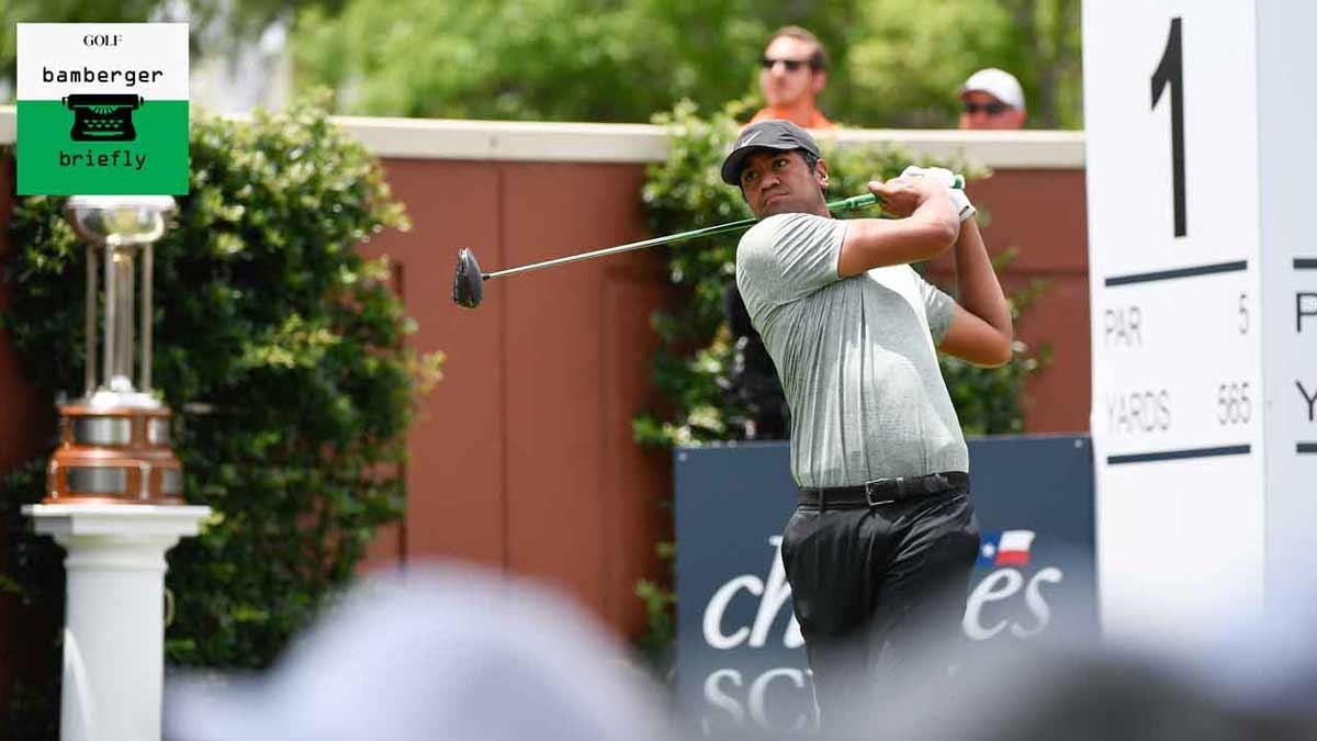 Tony Finau débute lors d'un tournoi de golf