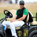 trevor immelman sits on cart