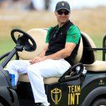 trevor immelman sits on cart