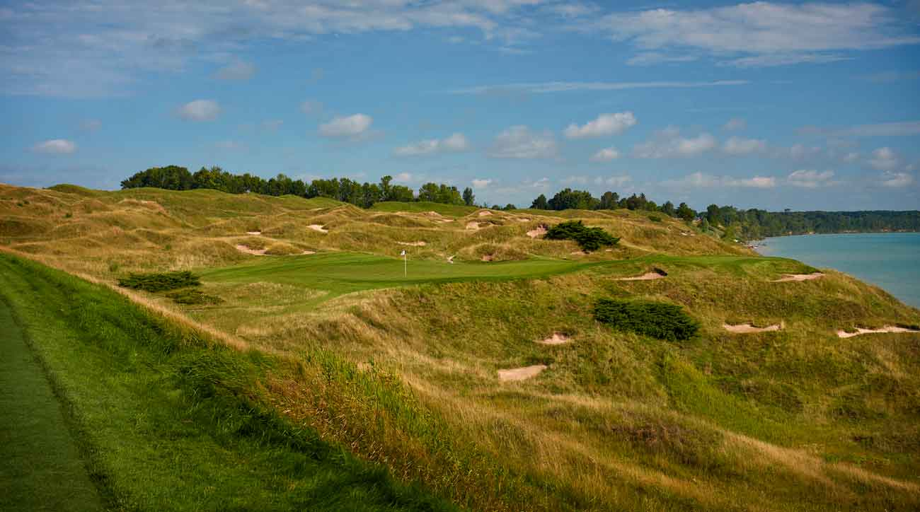 12th hole at whistling straits golf course