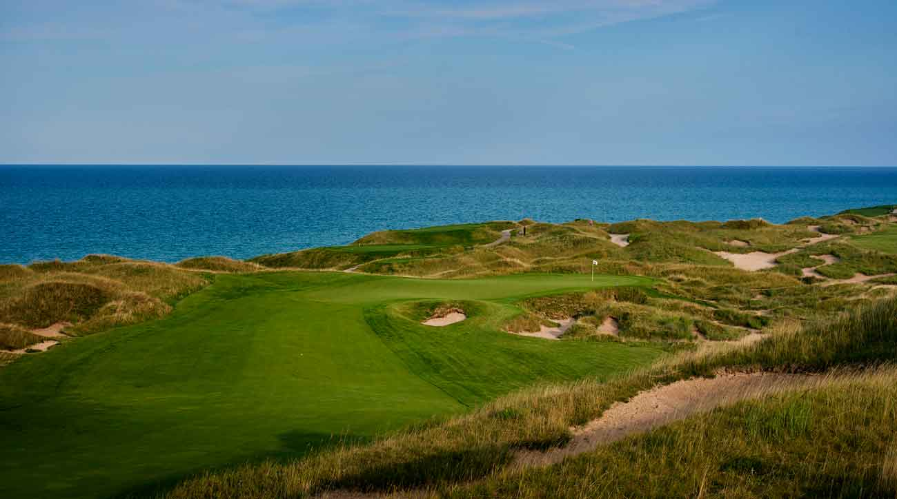 14th hole at whistling straits golf course