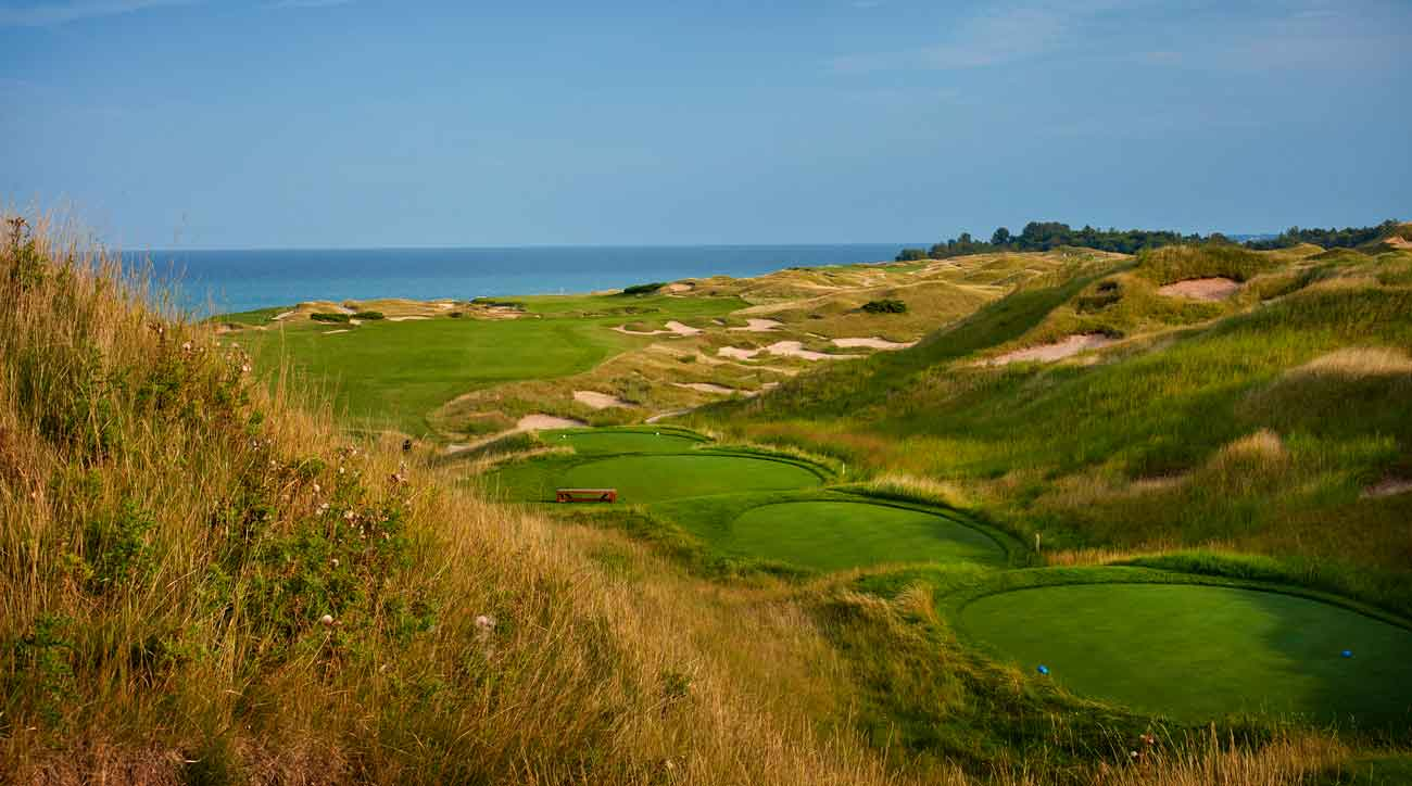 15th hole at whistling straits golf course