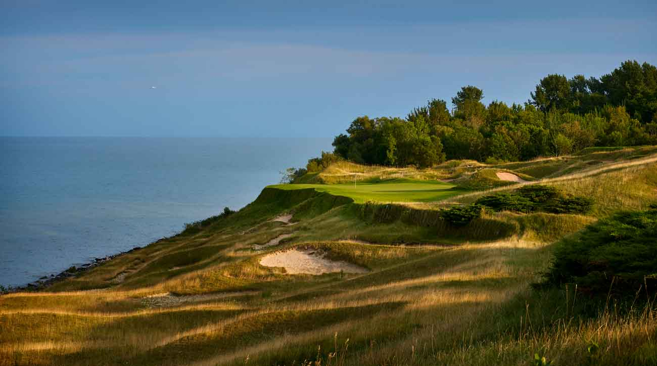 17th hole at whistling straits golf course