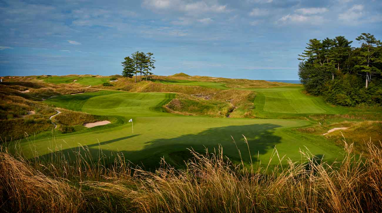 18th hole at whistling straits golf course