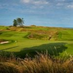 The 18th hole at Whistling Straits in 2018.