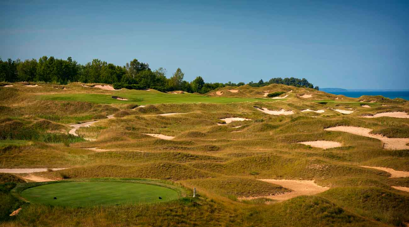 6th hole at Whistling Straits golf course
