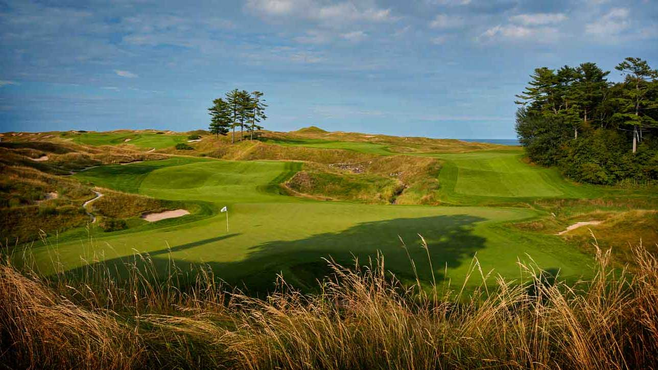 9th hole at Whistling Straits golf course