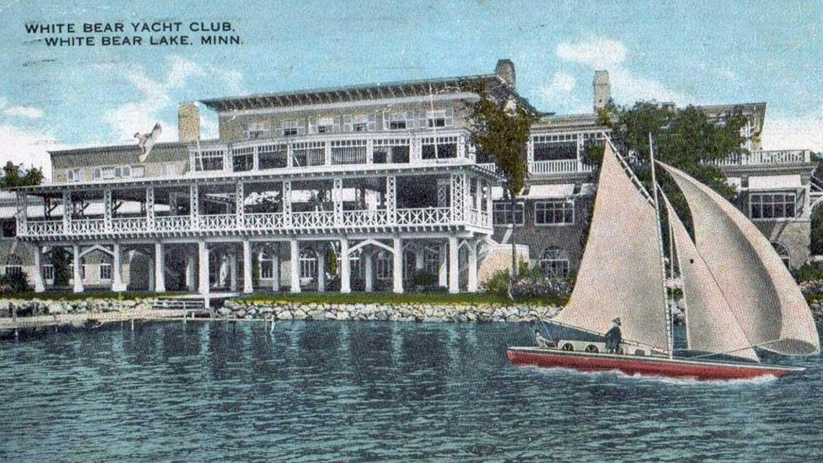 A postcard of White Bear Yacht Club.