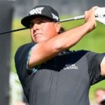Pat Perez hits a tee shot earlier this year.