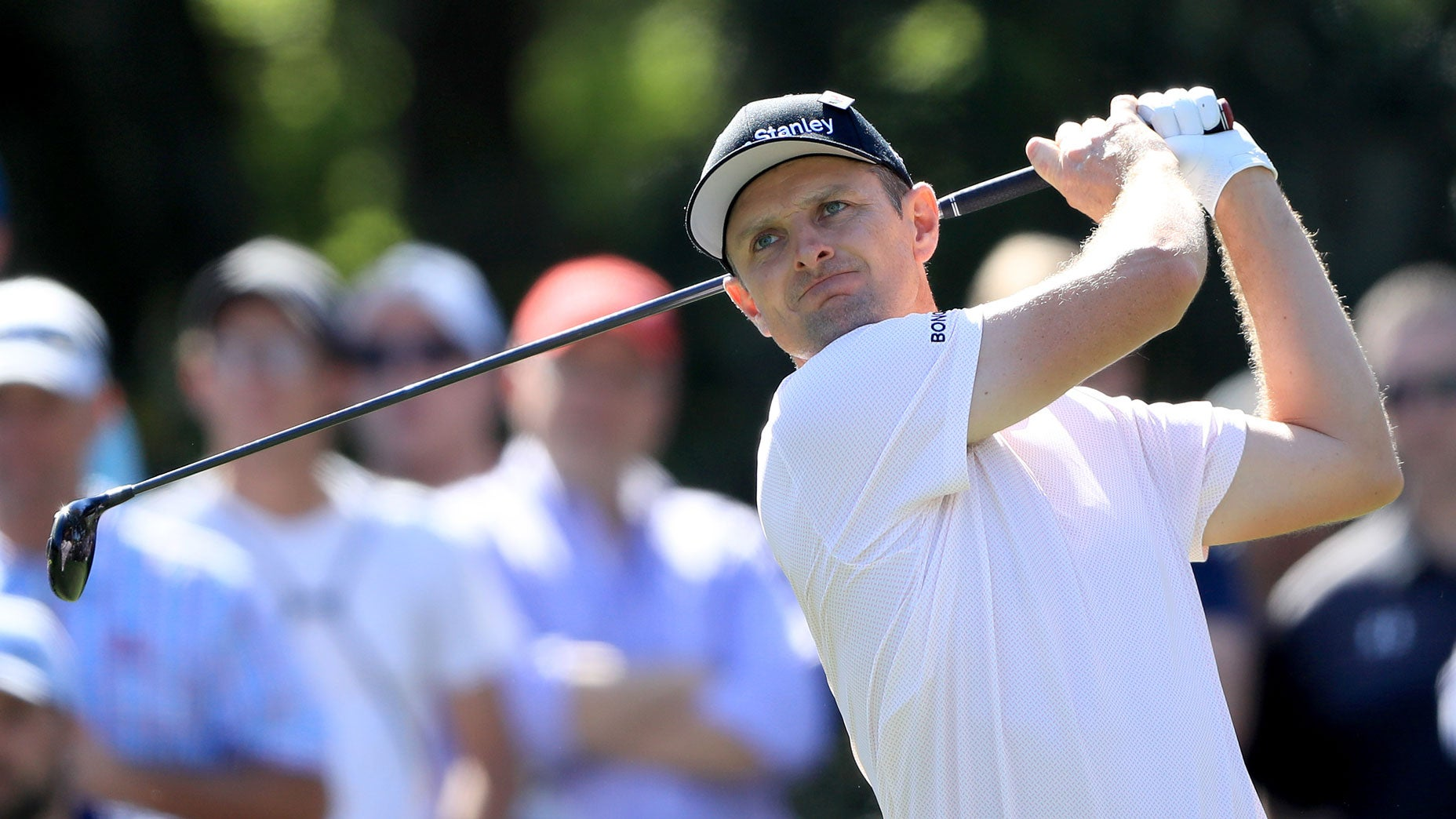 Justin Rose hits a tee shot during the Players Championship.