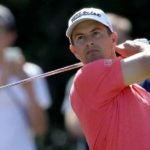 Adam Scott tees off at the Players Championship
