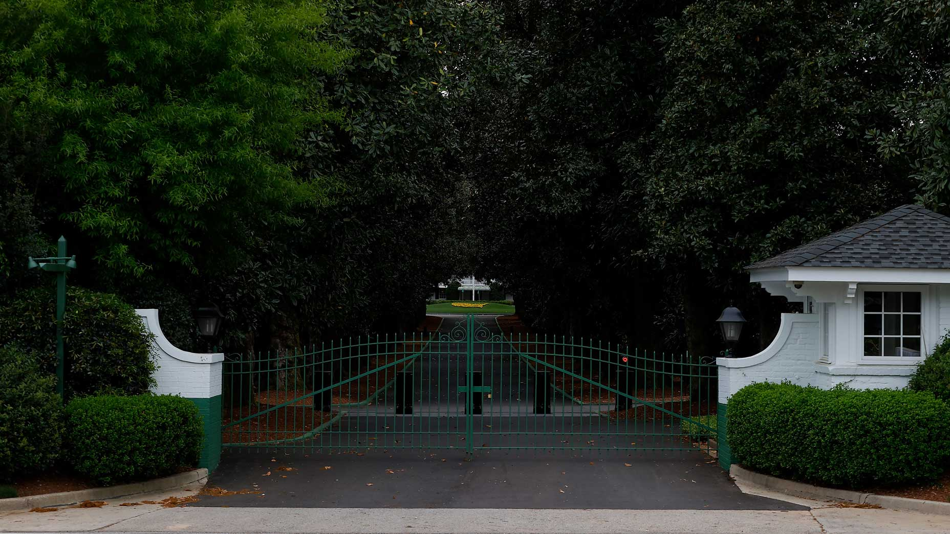 The gates at Augusta National Golf Club.