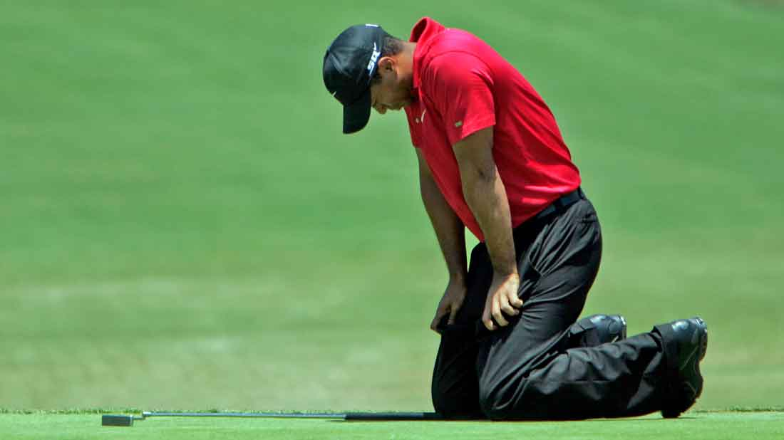 Tiger Woods lors de sa victoire à l'US Open de 2008.