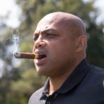 Charles Barkley during a golf event in 2017.