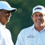 Tiger Woods and Phil Mickelson each donated items to the All In Challenge fundraiser.