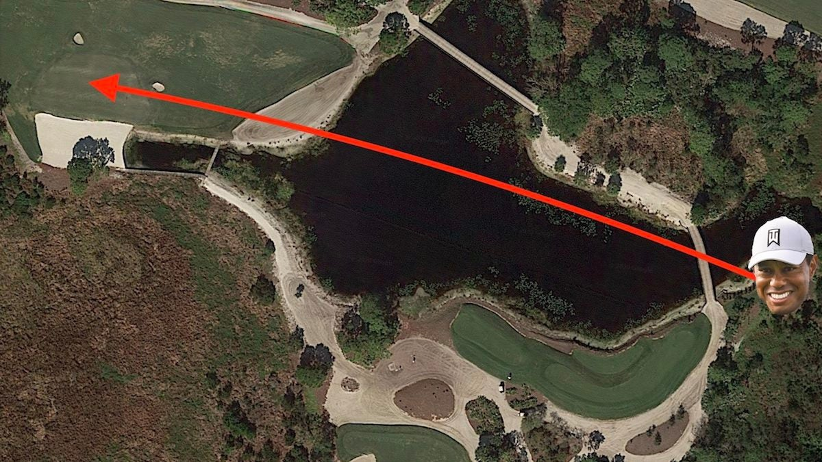 Here's what Medalist Golf Club's 'Tiger tees' look like on Google Earth