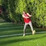 James Harden – Maxim Peranidze – steps to the golf ball.