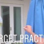 "Brooks Koepka enjoys some ""target practice."""