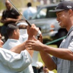 Tiger Woods at El Dorado in April 2001.