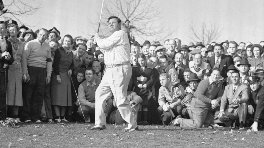babe ruth playing golf