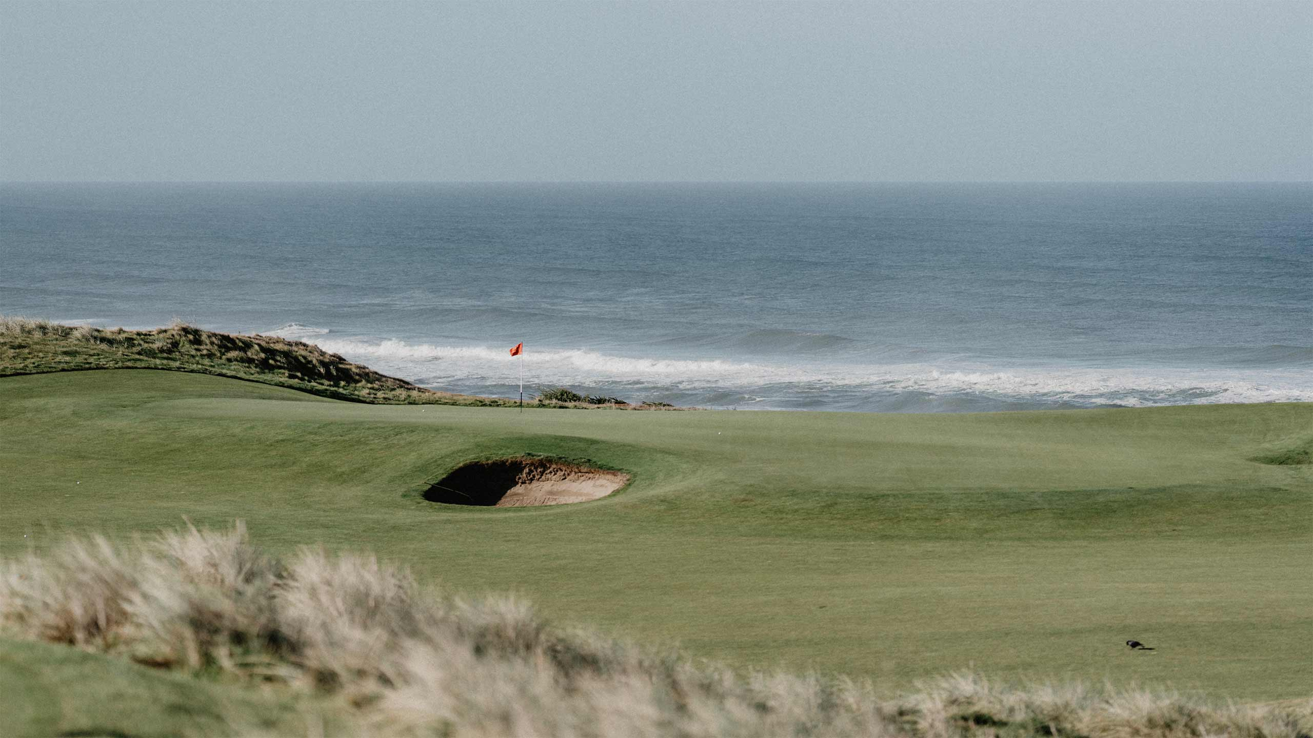 A green at Bandon Dunes Golf Resort.
