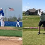 Indiana high school sophomore Drew Doty on the mound and on the golf course.