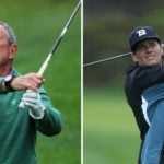 mike bloomberg and tom brady swing
