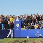 Brooks Koepka hits drive at 2018 Ryder Cup