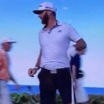 dustin johnson forget his golf bag