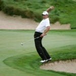 golfer loses balance