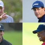Peyton Manning, Phil Mickelson, Tiger Woods and Tom Brady face off on Sunday.