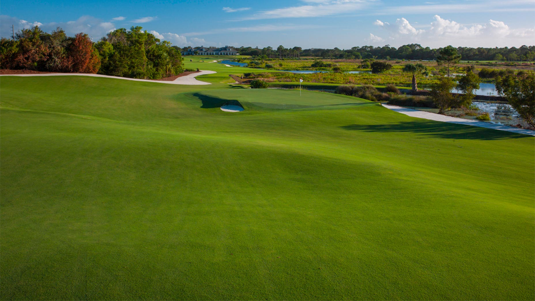 A view of the 17th hole at Medalist in Florida.