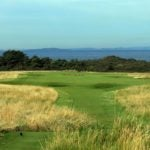 The par-4 15th at Muirfield in Scotland.