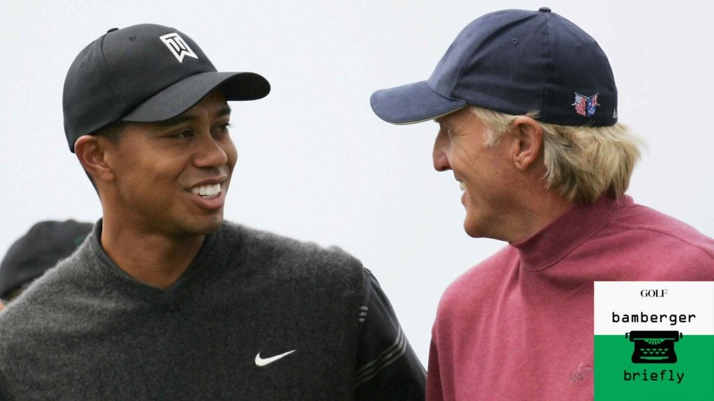 Why Greg Norman, Tiger Woods never forged a meaningful relationship