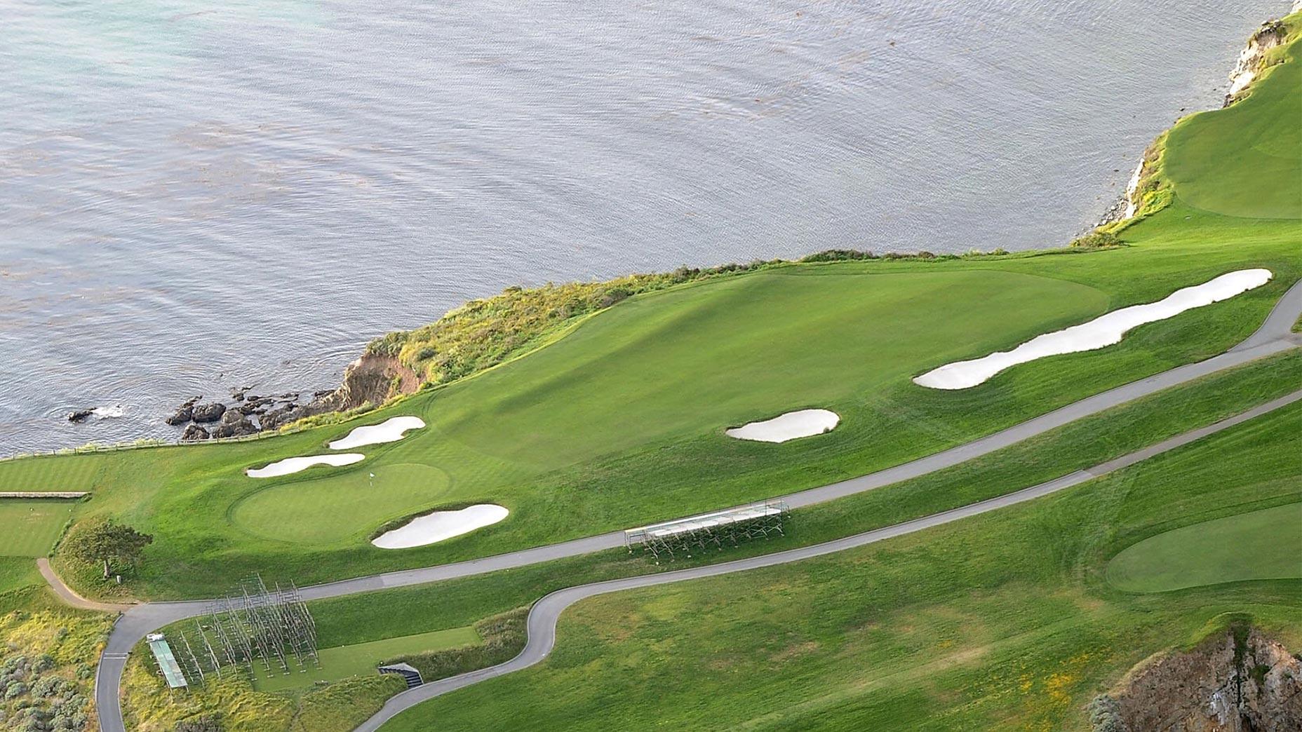 The par-5 6th hole at Pebble Beach Golf Links.