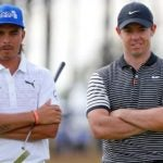 rickie fowler and rory mcilroy look at the camera