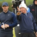 Rory McIlroy and Gerry McIlroy on golf course