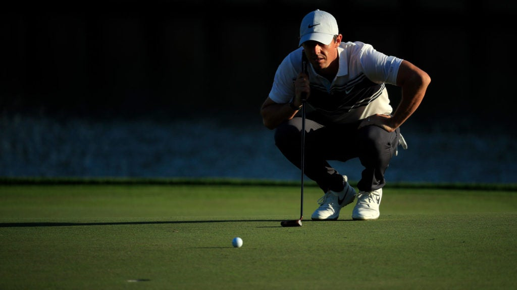 rory mcilroy reads putt