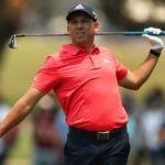 Pro golfer Sergio Garcia after golf shot